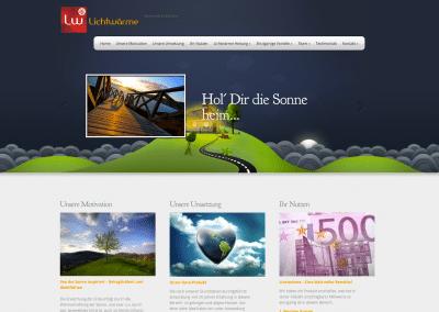 Lichtwärme Website