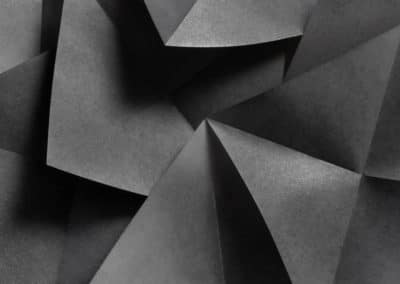 Geometric shapes in black and white, abstract background
