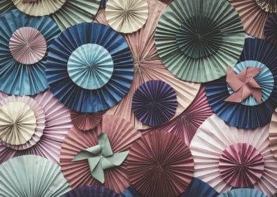 Circle shape Folding paper