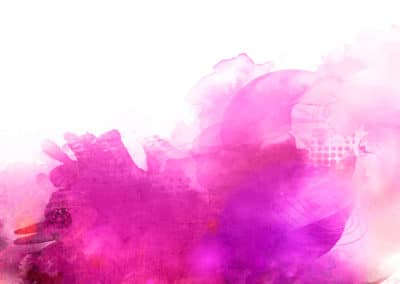 pink purple mixed media banner