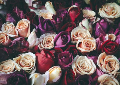 Romantic vintage bouquet of roses.